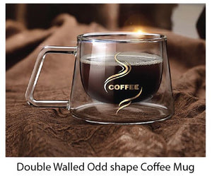 Double Walled Odd shape Coffee Mug - Tredan Connections