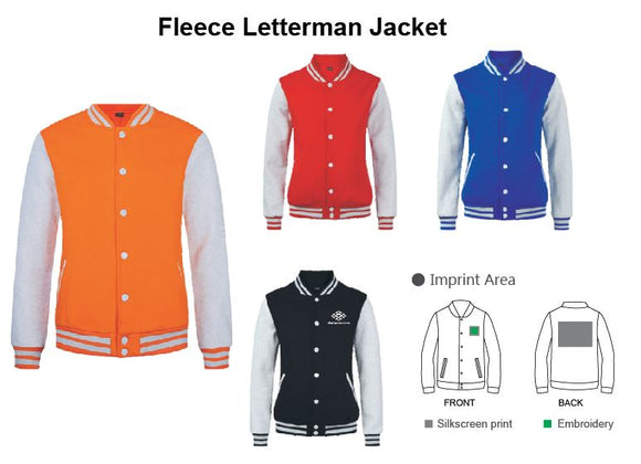 Fleece Letterman Jacket - Tredan Connections