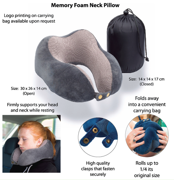 Memory Foam Neck Pillow - Tredan Connections
