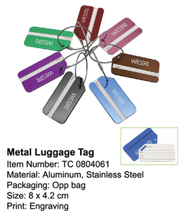 Metal Luggage Tag - Tredan Connections