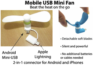 Mobile USB Mini Fan - Tredan Connections