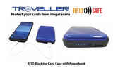 RFID Blocking Card case with Power Bank - Tredan Connections