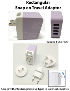 Rectangular Snap on Travel Adaptor - Tredan Connections