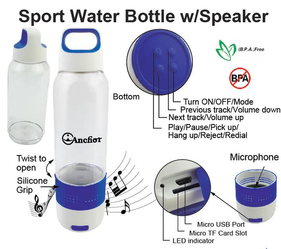 Sport Water Bottle with Speaker - Tredan Connections