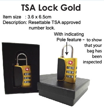 TSA Lock Gold - Tredan Connections