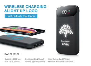 Wireless Charger with Light Up Logo