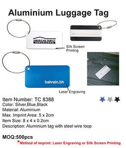 Aluminium Luggage Tag - Tredan Connections