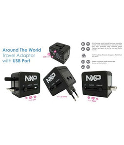 Around The World Travel Adaptor with USB Port - Tredan Connections