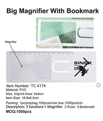 Big Magnifier with Bookmark - Tredan Connections