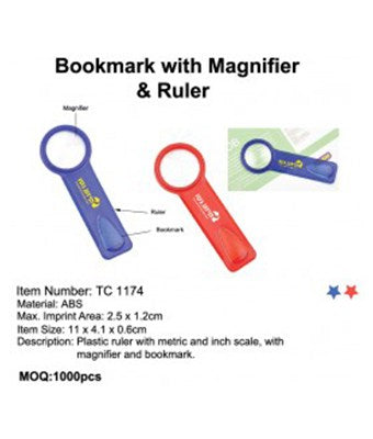 Bookmark with Magnifier & Ruler - Tredan Connections