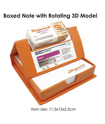 Boxed Note with Rotating 3D Model - Tredan Connections