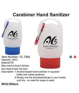 Carabiner Hand Sanitizer - Tredan Connections