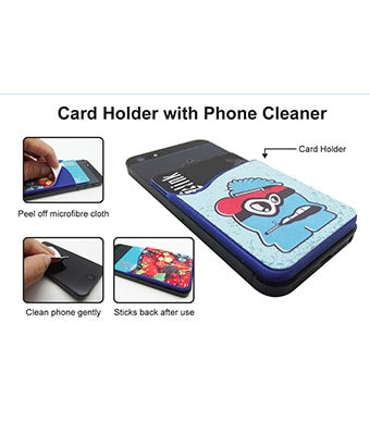 Card Holder with Phone Cleaner - Tredan Connections