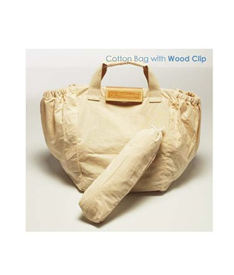Cotton Bag w Wood Clip - Tredan Connections