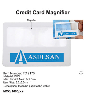 Credit Card Magnifier - Tredan Connections