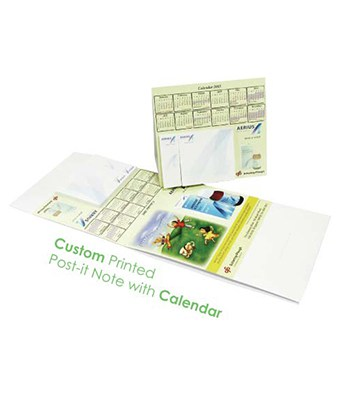 Custom Printed Post-it Note with Calendar - Tredan Connections
