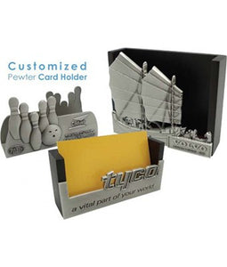 Customized Pewter Card Holder - Tredan Connections