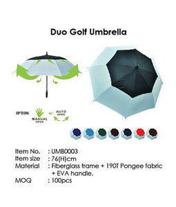 Duo Golf Umbrella - Tredan Connections