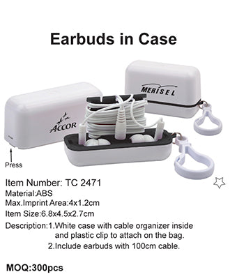 Earbuds in Case - Tredan Connections