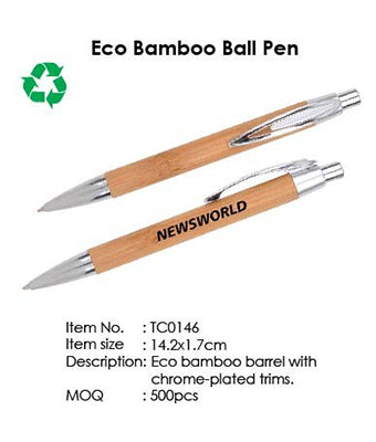 Eco Bamboo Ball Pen - Tredan Connections