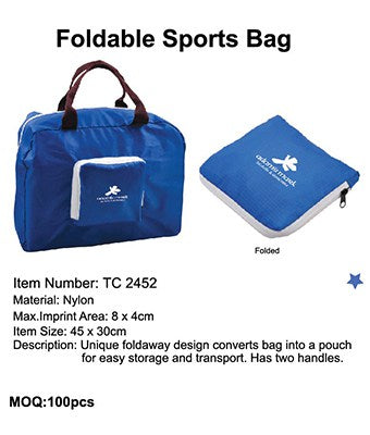 Foldable Sports Bag - Tredan Connections