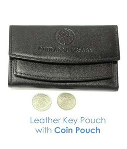 Leather Key Pouch w Coin Pouch - Tredan Connections
