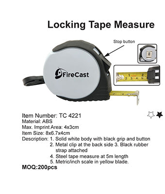 Locking Tape Measure - Tredan Connections