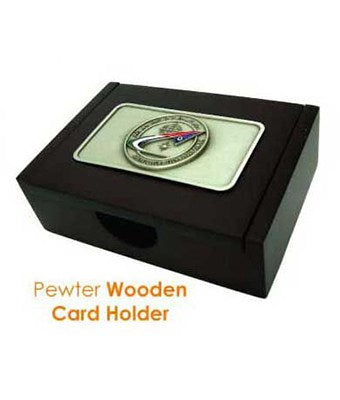 Pewter Wooden Pen Holder - Tredan Connections