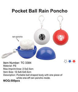 Pocket Ball Rain Poncho - Tredan Connections