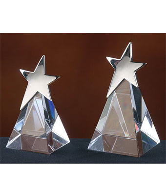 Pyramid Star Crystal Trophy - Tredan Connections