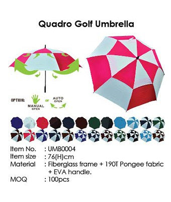 Quadro Golf Umbrella - Tredan Connections