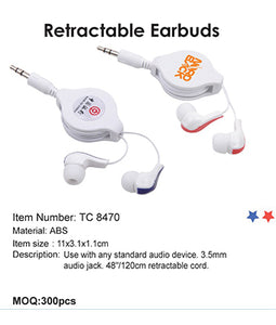 Retractable Earbuds - Tredan Connections