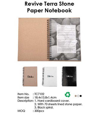 Revive Terra Stone Paper Notebook - Tredan Connections