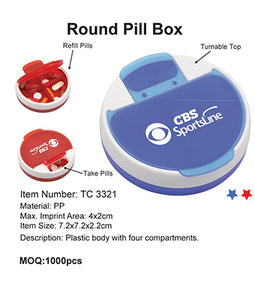 Round Pill Box - Tredan Connections