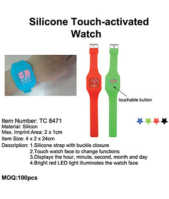Silicone Touch-activated Watch - Tredan Connections