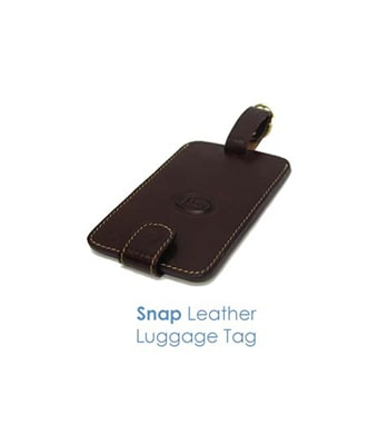Snap Leather Luggage Tag - Tredan Connections