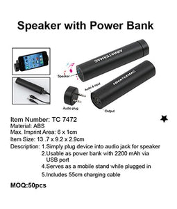 Speaker with Power Bank - Tredan Connections