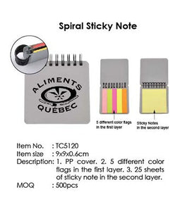 Spiral Sticky Note - Tredan Connections
