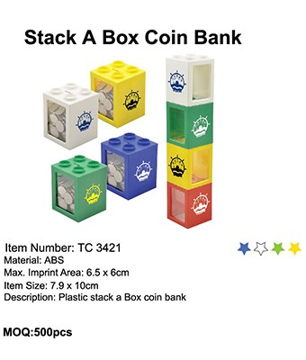 Stack A Box Coin Bank - Tredan Connections