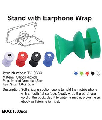 Stand with Earphone Wrap - Tredan Connections