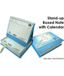Stand-up Boxed Note with Calendar - Tredan Connections