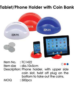 Tablet-Phone Holder with Coin Bank - Tredan Connections