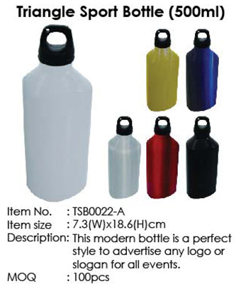Triangle Sport Bottle (500ml) - Tredan Connections