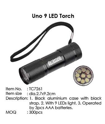 Uno 9 LED Torch - Tredan Connections