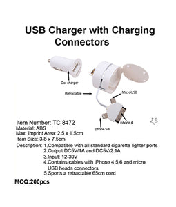 USB Charger with Charing Connectors - Tredan Connections