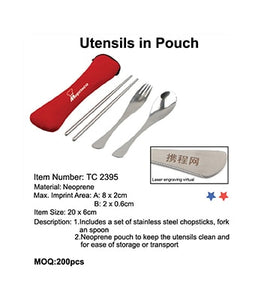 Utensils in Pouch - Tredan Connections