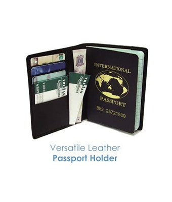 Versatile Leather Passport Holder - Tredan Connections