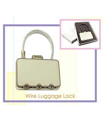 Wire Luggage Lock / Rectangle Metal Coded Lock - Tredan Connections