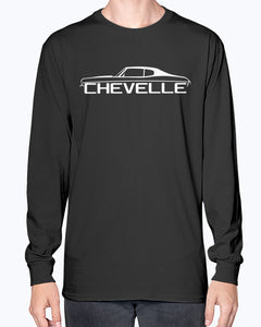 chevelle ss 1970 classic muscle car men's graphic long sleeve shirt.
