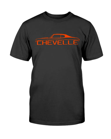 classic american muscle car chevelle men's graphic shirt black